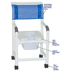 FEI: MJM International, Standard Shower Chair, Square Pail - 20-4268