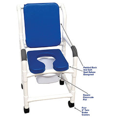 FEI: MJM International, Deluxe Shower Chair, Square Pail, Blue - 20-4269