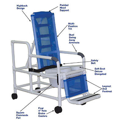 FEI: MJM International, Tilt Shower Chair, Square Pail - 20-4272