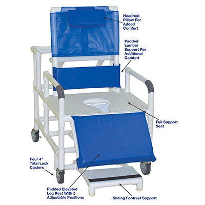 FEI: MJM International, Wide Reclining Shower Chair - 20-4273