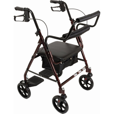 North Coast Medical: Transport Rollators - NC89088-1 - Burgundy Color