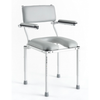 Nuprodx: Stationary shower and commode chair