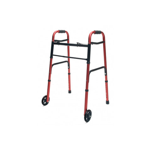 North Coast Medical: Lumex ColorSelect Adult Walkers with Wheels - NC88093-BK - Red Color