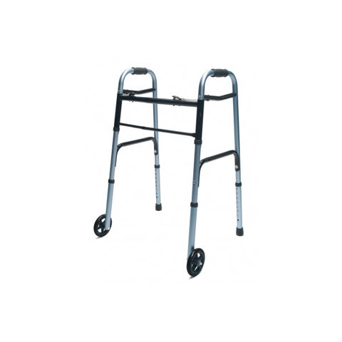 North Coast Medical: Lumex ColorSelect Adult Walkers with Wheels - NC88093-BK - Blue Color