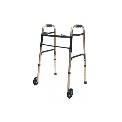 North Coast Medical: Lumex ColorSelect Adult Walkers with Wheels - NC88093-BK - Gold Color