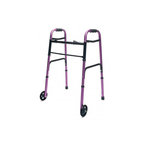 North Coast Medical: Lumex ColorSelect Adult Walkers with Wheels - NC88093-BK - Pink Color