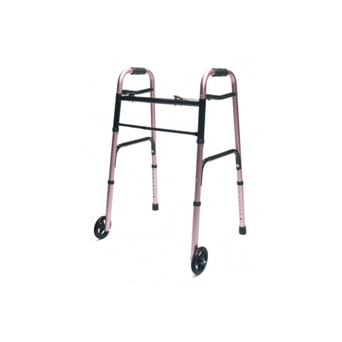 North Coast Medical: Lumex ColorSelect Adult Walkers with Wheels - NC88093-BK - Plum Color