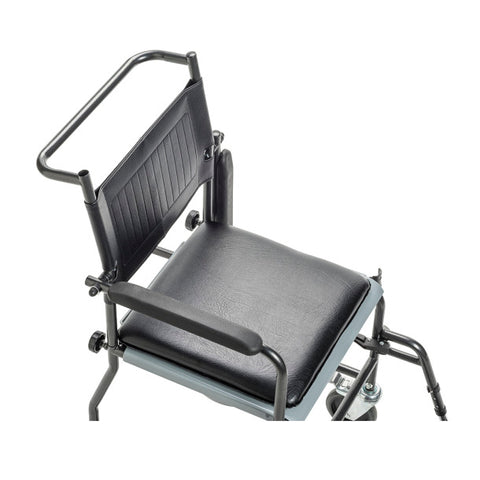Drive Medical: Upholstered Drop Arm Wheeled Commode - 11120SV-1F - Top View