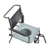 Image of Drive Medical: Upholstered Drop Arm Wheeled Commode - 11120SV-1F - Top View