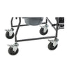 Image of Drive Medical: Upholstered Drop Arm Wheeled Commode - 11120SV-1F - Tires View