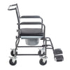 Image of Drive Medical: Upholstered Drop Arm Wheeled Commode - 11120SV-1F - Side View