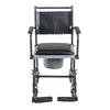 Image of Drive Medical: Upholstered Drop Arm Wheeled Commode - 11120SV-1F - Front View