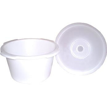 Convaquip: Universal Short Commode Pail with Lid - Pallet - 1500PC-576