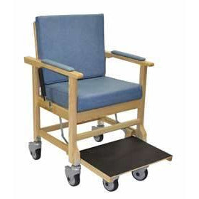 Convaquip: Transporter Chair Ascender - 711-7400 - Ice Blue Color