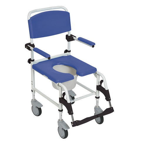 Drive Medical: Aluminum Rehab Shower Commode Chair