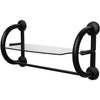 Image of Grabcessories: 3-in-1 Grab Bars w/ Towel Shelf & Hollow Wall Anchors - 61025 - Matte Black Color