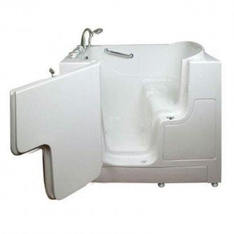 "Bathworks: Slide in Tub 52"" x 28"" x 41"" Wheelchair Accessible"
