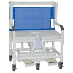 Convaquip: Bariatric Shower Chair With Soft Seat Deluxe Elongated - 131-5-SSDE