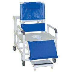 Convaquip: Bariatric Reclining Chair with Commode Seat - 196-26-BAR