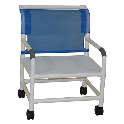 Convaquip: Bariatric Shower Chair With Flat Seat - 126-5-WB-F