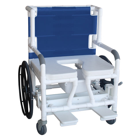 Convaquip: Bariatric Shower Commode Transfer Chair - 140-26BAR-24W