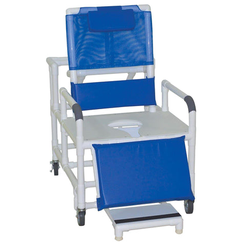 Convaquip: Bariatric Reclining Shower Commode Chair - 196-30-BAR
