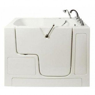 "Bathworks: Slide in Tub 52"" x 32"" x 41"" Wheelchair Accessible"