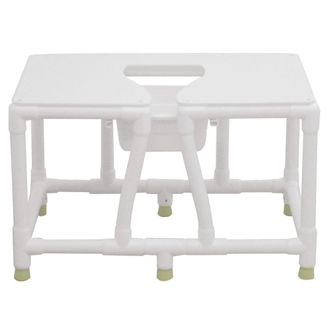Convaquip: Bariatric Commode - No Back - 156-FSS-30