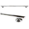 Image of Grabcessories: 36 inch Straight Decorative Grab Bar w/ Angled Ends, Rubber Grips & Free Anchors (2) - N36000 Polished Chrome - Side View