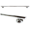 Image of Grabcessories: 42 Inch Straight Decorative Grab Bar w/Angled End Grips / Free Anchors - N42000 Polished Chrome - Actual Image