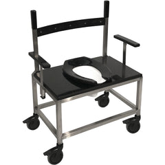 Convaquip: Stainless Steel Transport Shower Chair with Droparms -  1000PS-DAU