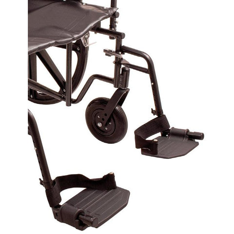 Convaquip: Bariatric Wheelchair - PB-WC72820DS - Footrest Closeup View