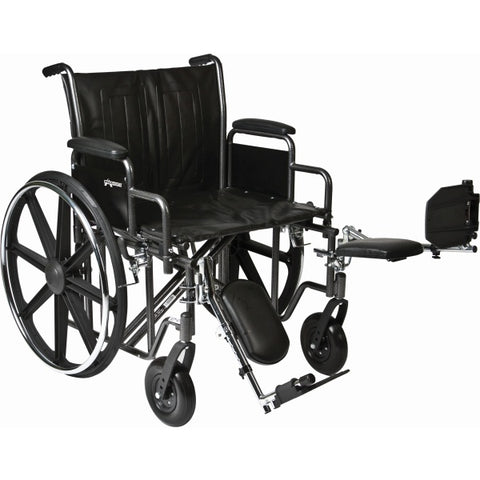 Convaquip: Bariatric Wheelchair - PB-WC72820DS - Elevated Legrest