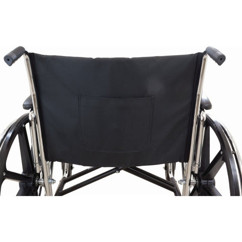 Convaquip: Bariatric Wheelchair - PB-WC72820DS - Chart Pocket with Backview