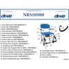 Image of Convaquip: Bari Shower and Commode Chair - DR185008 - Parts List