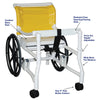 Image of MJM International: Combination Walker/Transferchair - 418-24 - Parts Overview