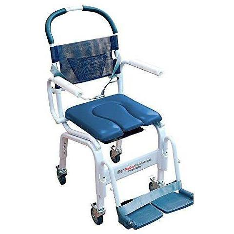 "Mor-Medical International: Euro Rehab Shower Commode Chair w/ 18"" Seat"
