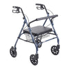FEI: Heavy Duty Bariatric Walker Rollator with Large Padded Seat, Color Blue - 43-1903 - Actual Image