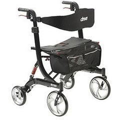 FEI: Nitro Euro Style Walker Rollator, Heavy Duty, Color Black - 43-1904 - Front View
