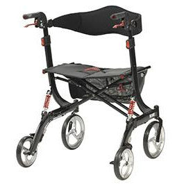 FEI: Nitro Euro Style Walker Rollator, Heavy Duty, Color Black - 43-1904 - Back View