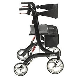 FEI: Nitro Euro Style Walker Rollator, Heavy Duty, Color Black - 43-1904 - Side View