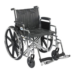 "FEI: Sentra EC Heavy Duty Wheelchair, Detachable Desk Arms, Swing away Footrests, 20"" Seat - 43-1906 - Actual Image"