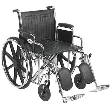 "FEI: Sentra EC Heavy Duty Wheelchair, Detachable Desk Arms, Elevating Leg Rests, 20"" Seat - 43-1907 - Actual Image"