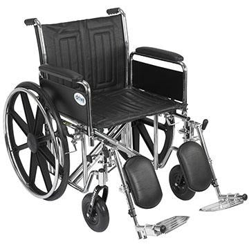 "FEI: Sentra EC Heavy Duty Wheelchair, Detachable Full Arms, Elevating Leg Rests, 20"" Seat - 43-1908 - Actual Image"