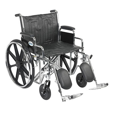 "FEI: Sentra EC Heavy Duty Wheelchair, Detachable Desk Arms, Elevating Leg Rests, 22"" Seat - 43-1909 - Actual Image"