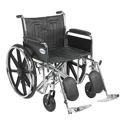 "FEI: Sentra EC Heavy Duty Wheelchair, Detachable Full Arms, Elevating Leg Rests, 22"" Seat - 43-1910 - Actual Image"