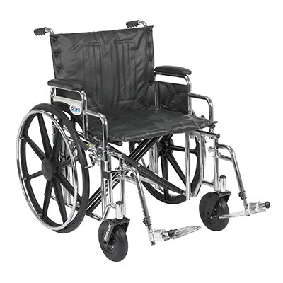 "FEI: Sentra Extra Heavy Duty Wheelchair, Detachable Desk Arms, Swing away Footrests, 22"" Seat - 43-1911 - Actual Image"