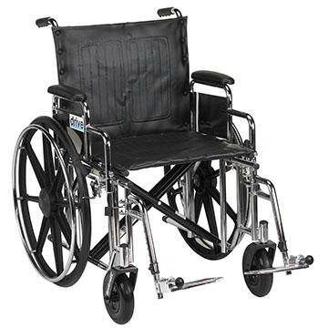 "FEI: Sentra Extra Heavy Duty Wheelchair, Detachable Desk Arms, Swing away Footrests, 20"" Seat - 43-1913 - Actual Image"
