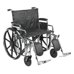 "FEI: Sentra Extra Heavy Duty Wheelchair, Detachable Desk Arms, Elevating Leg Rests, 24""Seat - 43-1919 - Actual Image"