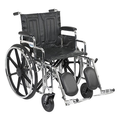 "FEI: Sentra Extra Heavy Duty Wheelchair, Detachable Desk Arms, Elevating Leg Rests, 20"" Seat - 43-1921 - Actual Image"